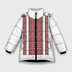 Куртка зимняя для девочки Вышивка 13 цвета 3D-черный — фото 1