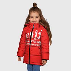 Куртка зимняя для девочки Волейбол 23 цвета 3D-черный — фото 2
