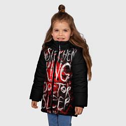 Детская зимняя куртка для девочки с принтом Doctor Sleep, цвет: 3D-черный, артикул: 10095789806065 — фото 2