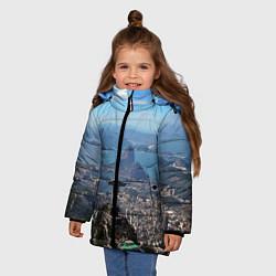 Куртка зимняя для девочки Рио-де-Жанейро цвета 3D-черный — фото 2