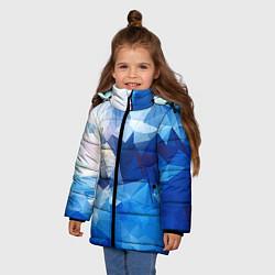 Куртка зимняя для девочки Абстракция цвета 3D-черный — фото 2
