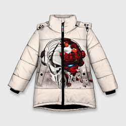 Куртка зимняя для девочки Pirate Station: Pink Side цвета 3D-черный — фото 1