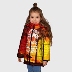 Куртка зимняя для девочки Summer Surf 2 цвета 3D-черный — фото 2