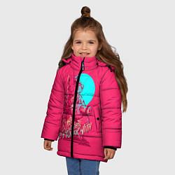 Куртка зимняя для девочки Let's get this over with цвета 3D-черный — фото 2