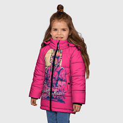 Куртка зимняя для девочки If juking hate these people цвета 3D-черный — фото 2