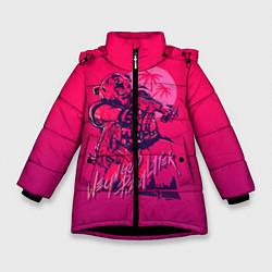 Куртка зимняя для девочки We grab pizza later цвета 3D-черный — фото 1