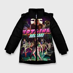 Куртка зимняя для девочки Hotline Miami цвета 3D-черный — фото 1