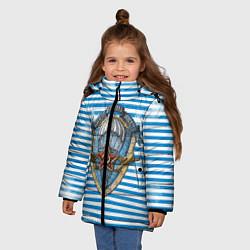 Детская зимняя куртка для девочки с принтом ВДВ, цвет: 3D-черный, артикул: 10099218206065 — фото 2