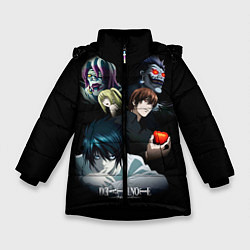 Куртка зимняя для девочки Тетрадь смерти 1 цвета 3D-черный — фото 1