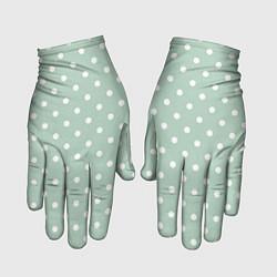 Перчатки Белый горох цвета 3D — фото 1