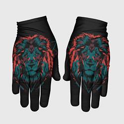 Перчатки Лев на закате цвета 3D — фото 1
