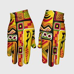 Перчатки Африка цвета 3D — фото 1