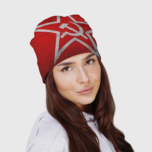 Шапка Флаг СССР: Серп и Молот / 3D – фото 2