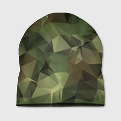 Шапка Полигональный камуфляж цвета 3D — фото 1