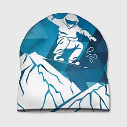 Шапка Горы и сноубордист цвета 3D-принт — фото 1