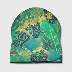 Шапка Узор из листьев