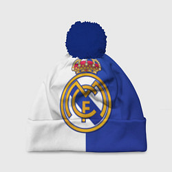 Шапка с помпоном Real Madrid цвета 3D-тёмно-синий — фото 1