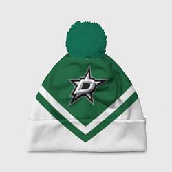 Шапка с помпоном NHL: Dallas Stars цвета 3D-зеленый — фото 1