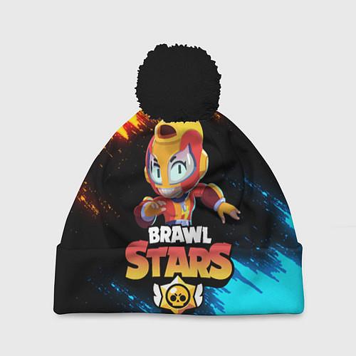 Шапка c помпоном BRAWL STARS MAX / 3D-Черный – фото 1