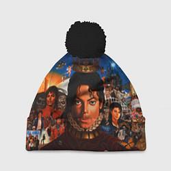 Шапка с помпоном Michael Jackson: Pop King цвета 3D-черный — фото 1