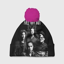 Шапка с помпоном Fall out boy band цвета 3D-малиновый — фото 1