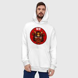 Толстовка-худи оверсайз Samurai цвета белый — фото 2