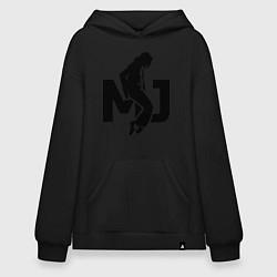 Толстовка-худи оверсайз MJ Music цвета черный — фото 1