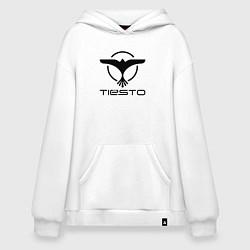 Толстовка-худи оверсайз Tiesto цвета белый — фото 1