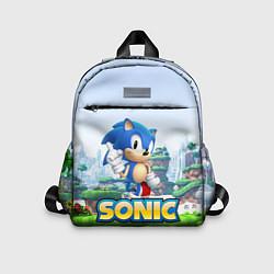 Детский рюкзак SEGA SONIC цвета 3D-принт — фото 1