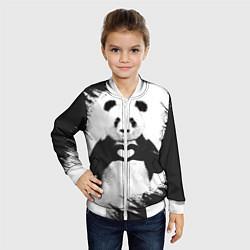 Бомбер детский Panda Love цвета 3D-белый — фото 2