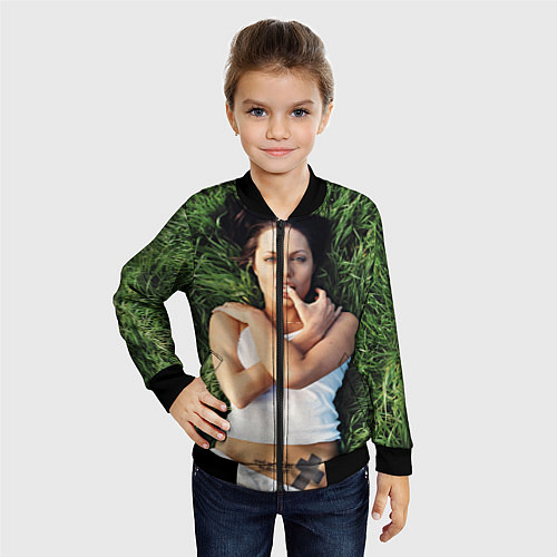 Детский бомбер Анджелина Джоли / 3D-Черный – фото 4