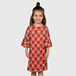 Платье клеш для девочки Хипстер 4 цвета 3D — фото 2