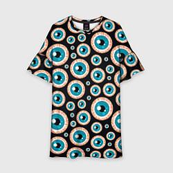 Платье клеш для девочки Хэллуин 7 цвета 3D-принт — фото 1