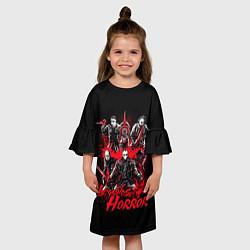 Платье клеш для девочки Legends of Horror цвета 3D-принт — фото 2