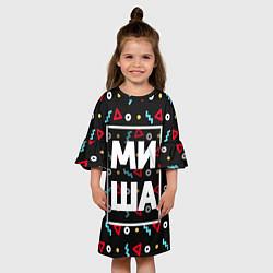 Платье клеш для девочки Миша цвета 3D — фото 2
