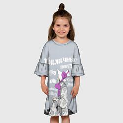 Платье клеш для девочки Девушки водку не пьют цвета 3D — фото 2