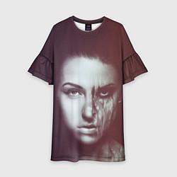 Платье клеш для девочки Chelsea Grin: Death Girl цвета 3D — фото 1