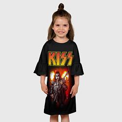 Платье клеш для девочки KISS: Джин Симмонс цвета 3D — фото 2