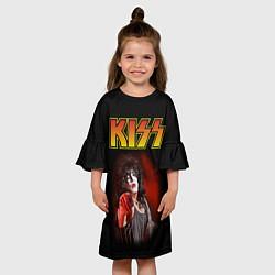Платье клеш для девочки KISS: Paul Stanley цвета 3D-принт — фото 2