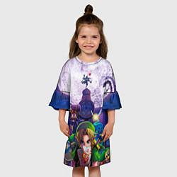 Платье клеш для девочки The Legend of Zelda цвета 3D-принт — фото 2