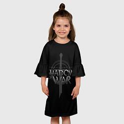 Платье клеш для девочки Shadow of War цвета 3D-принт — фото 2