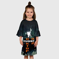 Платье клеш для девочки Виктор Цой цвета 3D — фото 2