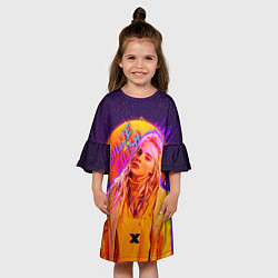 Платье клеш для девочки Billie Eilish цвета 3D — фото 2