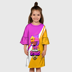 Платье клеш для девочки Brawl stars Sandy цвета 3D — фото 2