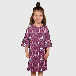 Платье клеш для девочки Холодное сердце 2 цвета 3D-принт — фото 2