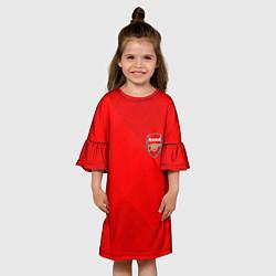 Платье клеш для девочки ARSENAL цвета 3D-принт — фото 2