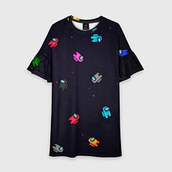 Платье клеш для девочки Among Us цвета 3D-принт — фото 1