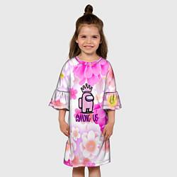 Платье клеш для девочки Among Us цвета 3D — фото 2