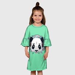 Платье клеш для девочки Пандочка цвета 3D — фото 2