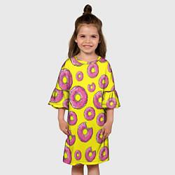 Платье клеш для девочки Пончики Гомера цвета 3D — фото 2